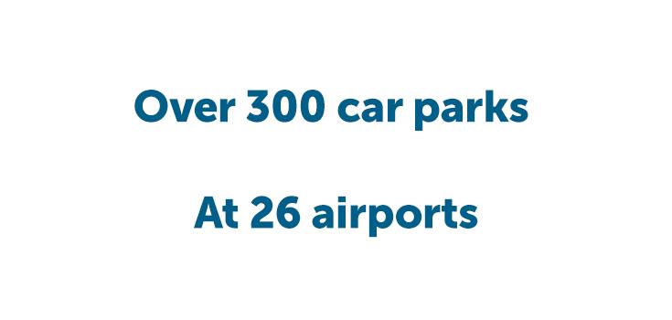 Over 300 car parks